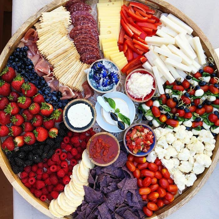 Epic Red, White , Blue Charcuterie Board | Patriotic Charcuterie Boards