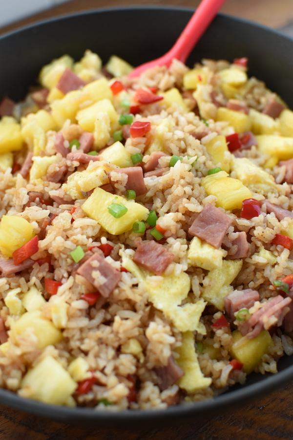 Ham Fried Rice with pineapple | NoBiggie.net