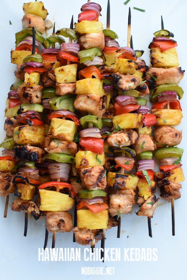 Hawaiian Chicken Kebabs | NoBiggie.net