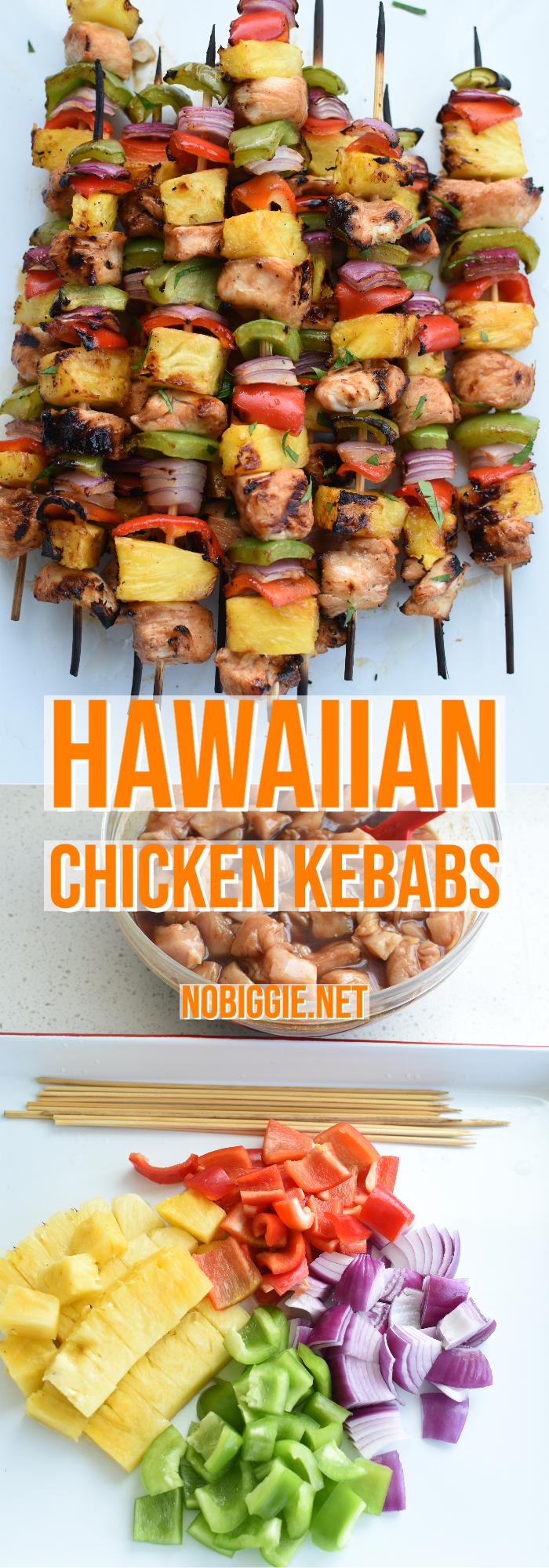 Hawaiian Chicken Kebabs | NoBiggie.net