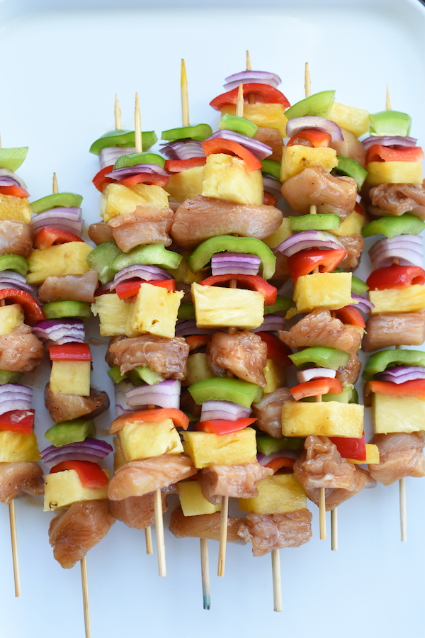 Hawaiian Chicken Skewers | NoBiggie.net