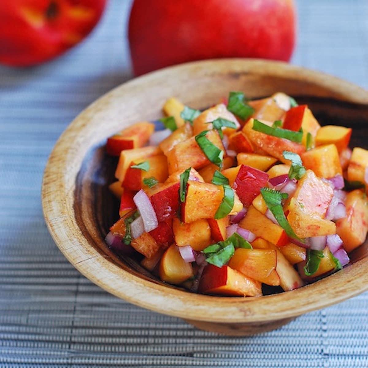Nectarine Basil Salsa | Salsa Recipes