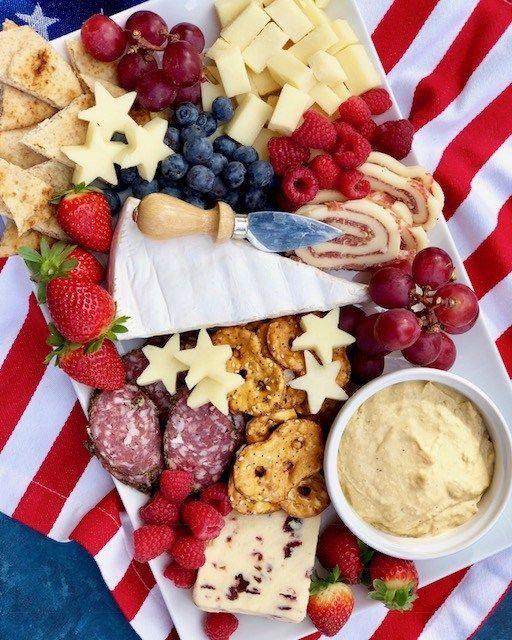 Patriots Cheese Board | Patriotic Charcuterie Boards