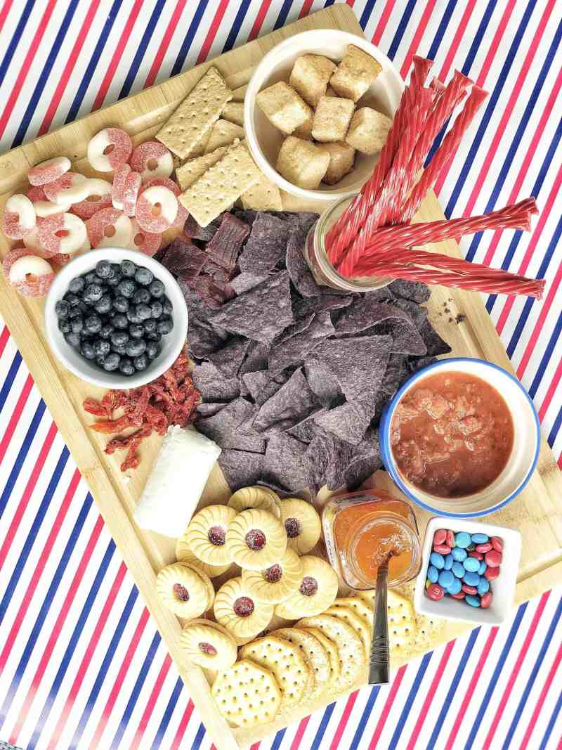 Red White Blue Summer Charcuterie Board | Patriotic Charcuterie Boards