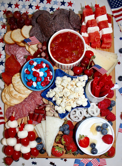 Red White and Blue Charcuterie Board | Patriotic Charcuterie Boards