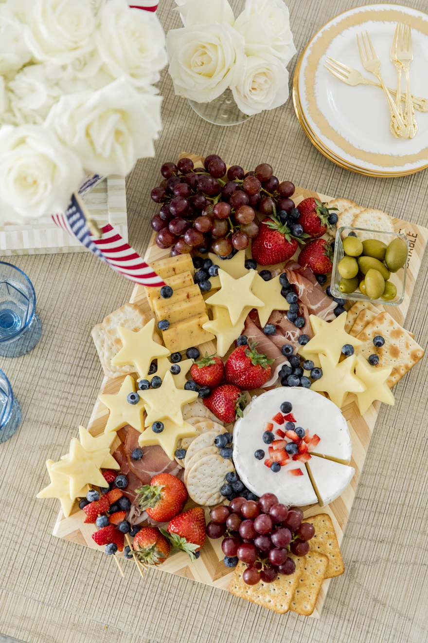 Star Spangled Cheese Platter | Patriotic Charcuterie Boards
