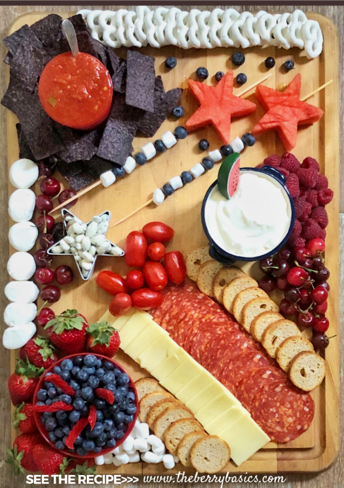The Ultimate Patriotic Charcuterie Board | Patriotic Charcuterie Boards
