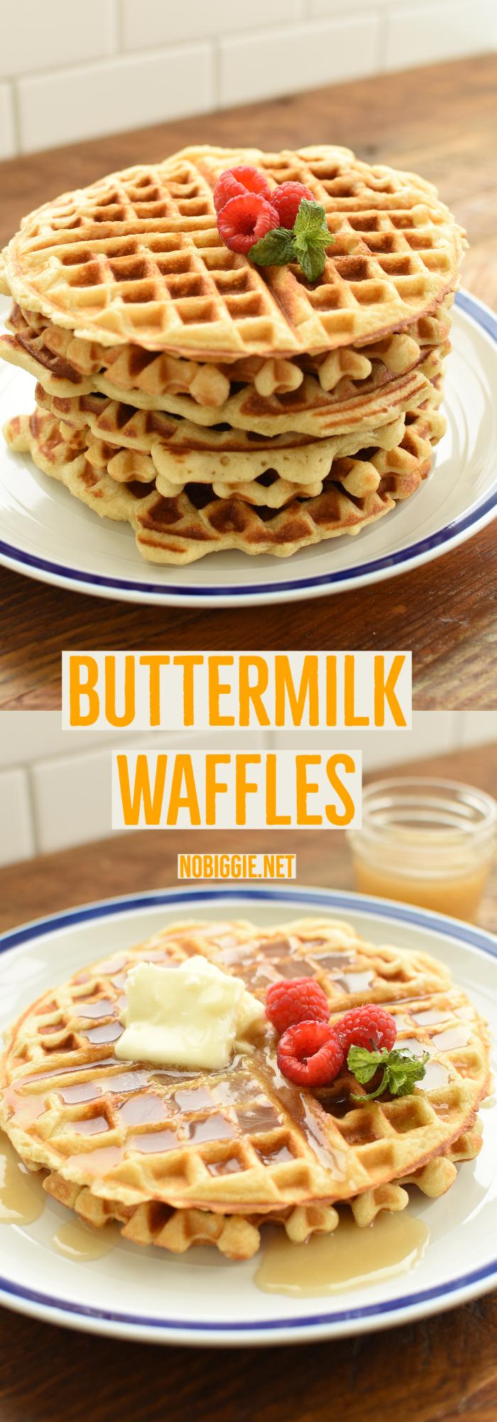 fluffy buttermilk waffles | NoBiggie.net