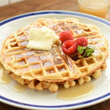 buttermilk waffles with buttermilk syrup | NoBiggie.net