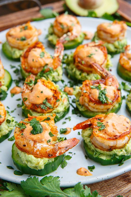 Blackened Shrimp Cucumber Bites | Bridal Shower Finger Foods