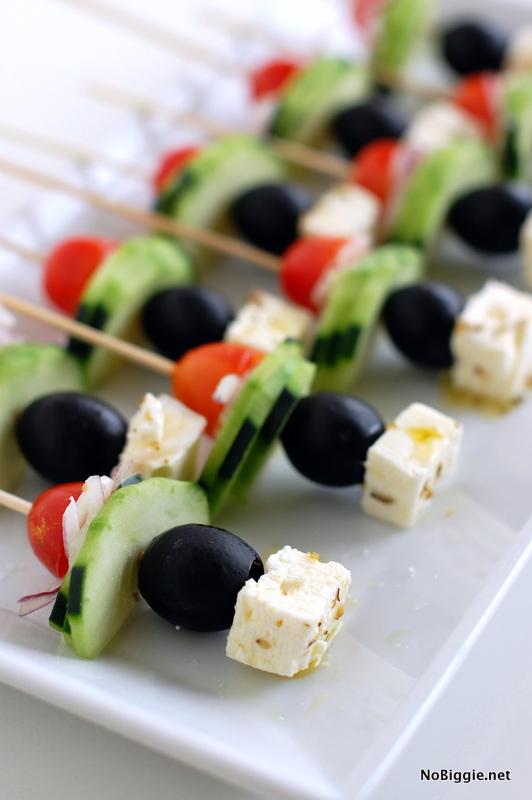 Greek Salad on a Stick | Bridal Shower Finger Foods