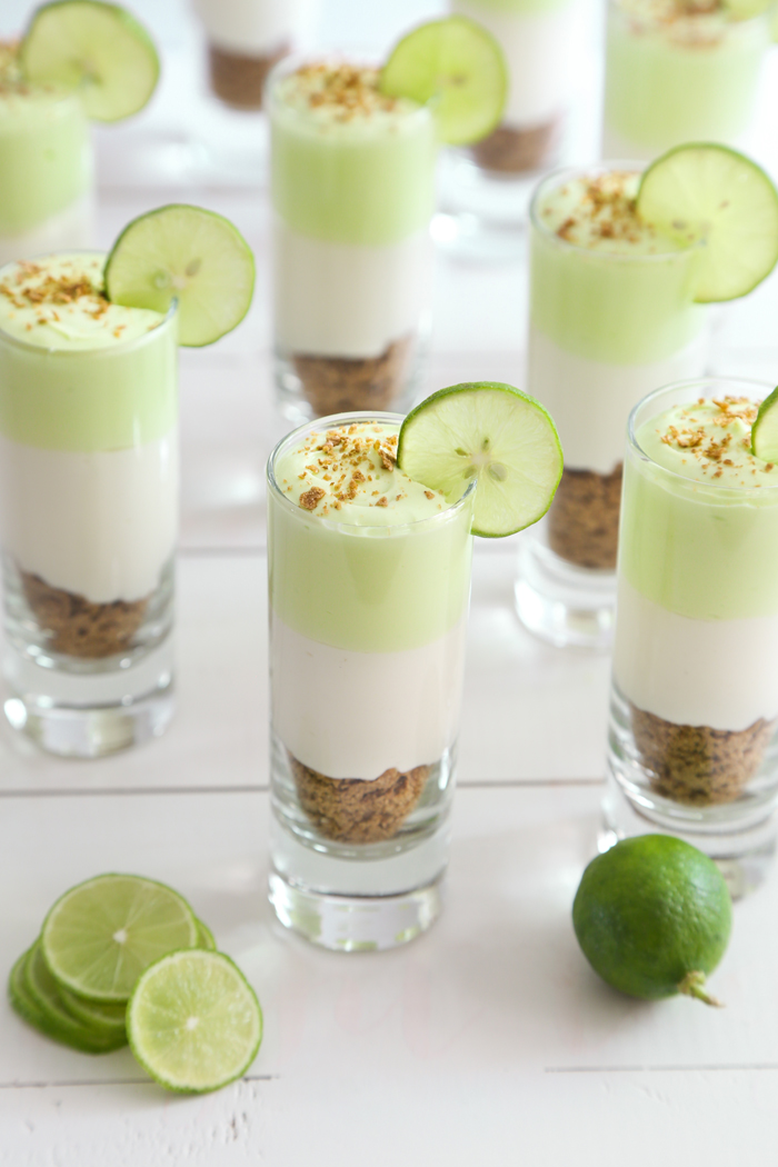 Light Key Lime Cheesecake Shots | Sweet Treats for Showers