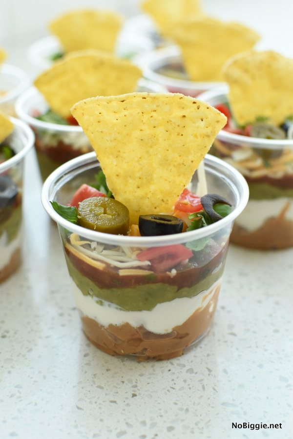 Mexican Seven Layer Dip | Bridal Shower Finger Foods