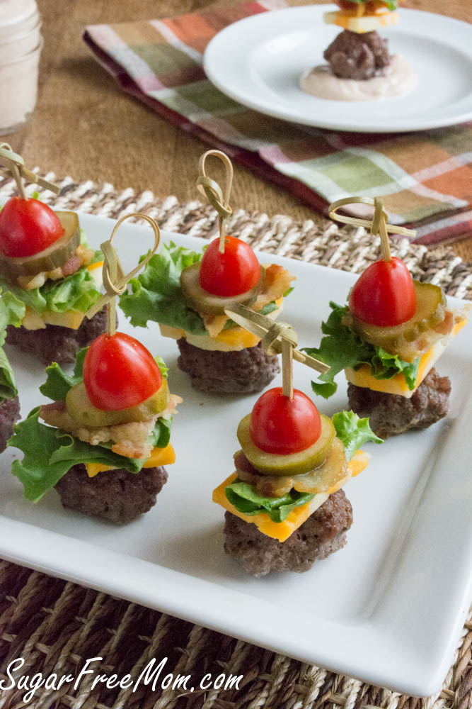 Mini Burgers on a Stick | Bridal Shower Finger Foods