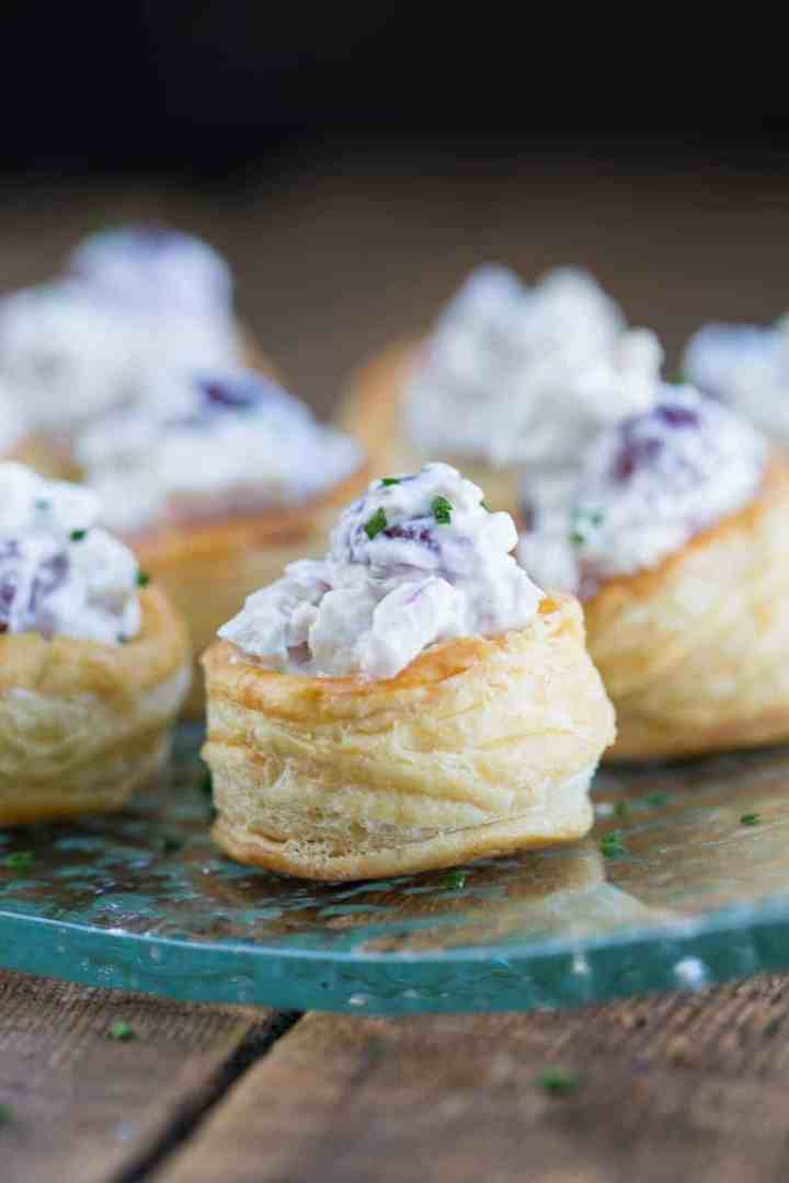 Puff Pastry Chicken Salad Cups | Bridal Shower Finger Foods