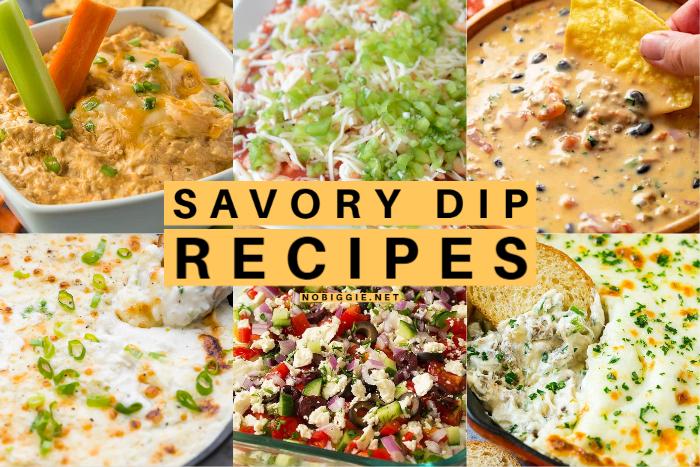 Savory Dip Recipes | NoBiggie.net