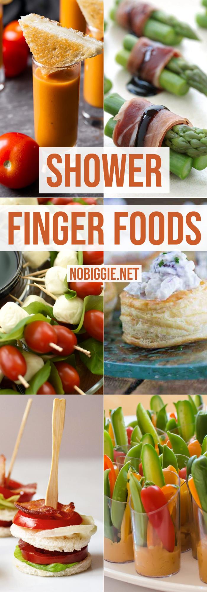 Shower Finger Foods | NoBiggie.net