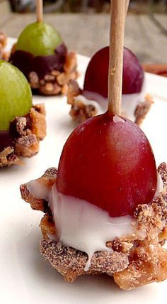 Toffee Grapes | Sweet Treats for Showers