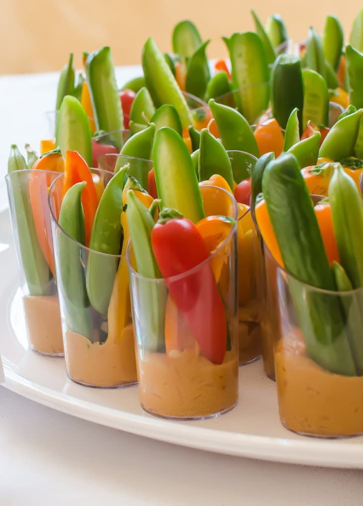 Veggie and Hummus Cups | Bridal Shower Finger Foods