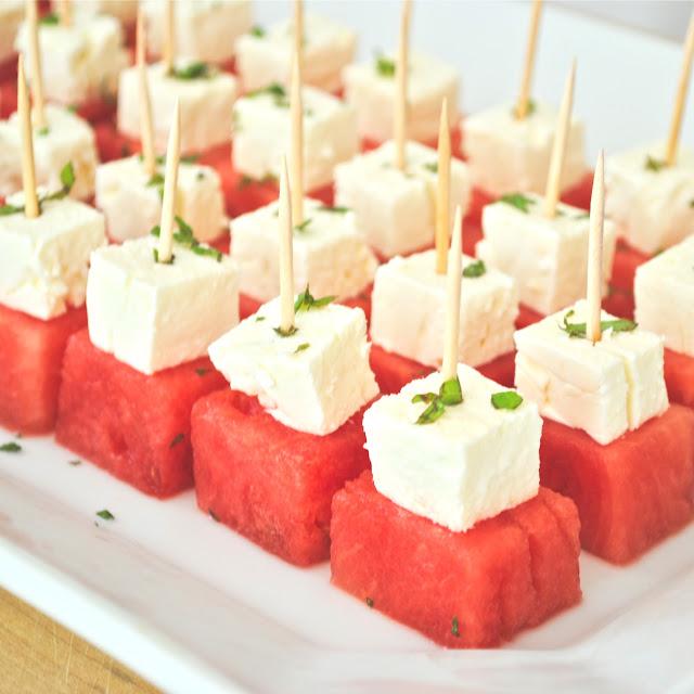 Watermelon Feta Bites | Bridal Shower Finger Foods