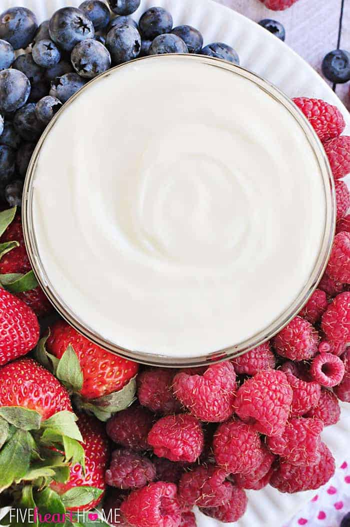 White Chocolate Cheesecake Fruit Dip | Sweet Treats for Showers