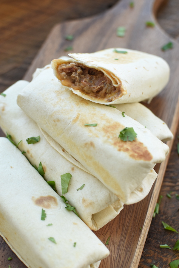 beef bean and cheese freezer burritos