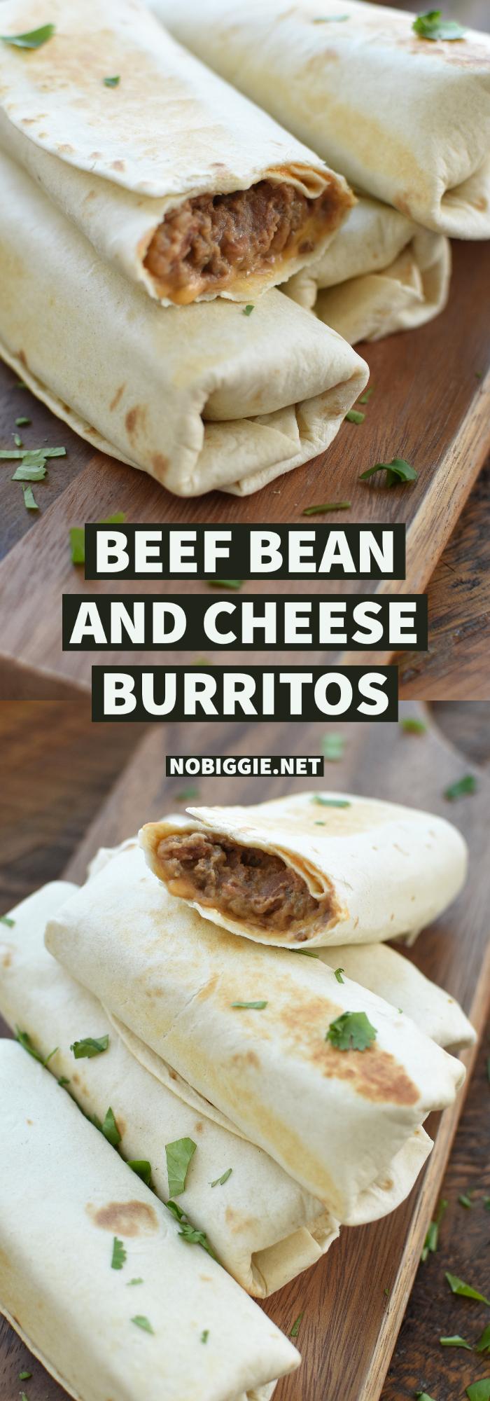 beef bean and cheese burritos | NoBiggie.net