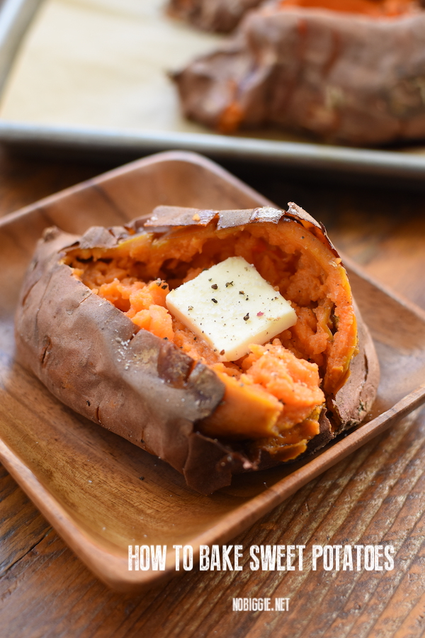 how to bake sweet potatoes | NoBiggie.net