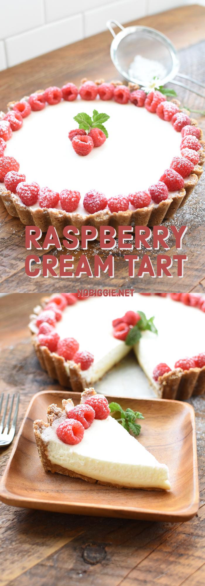 Raspberry Marshmallow Cream Tart | NoBiggie.net