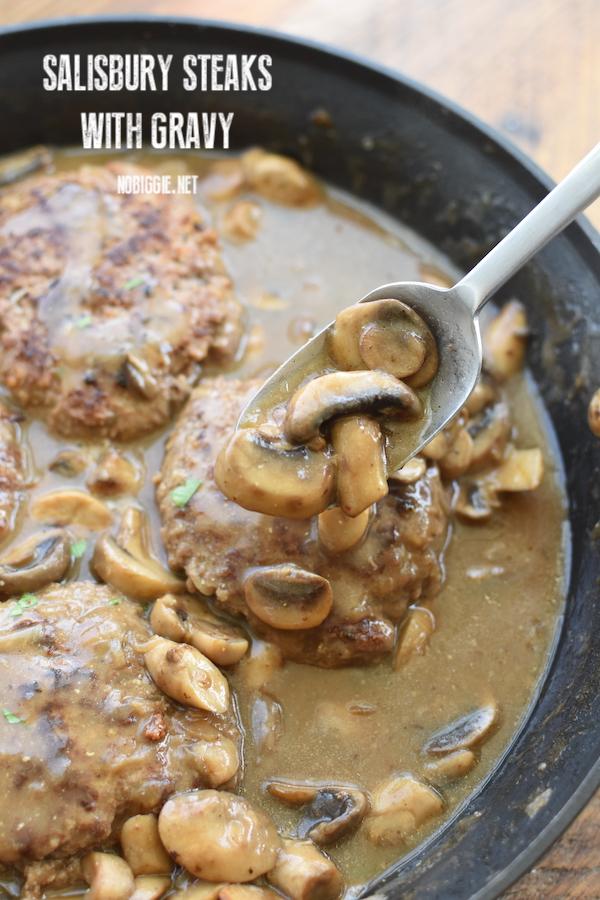 salisbury steaks with mushroom gravy | NoBiggie.net