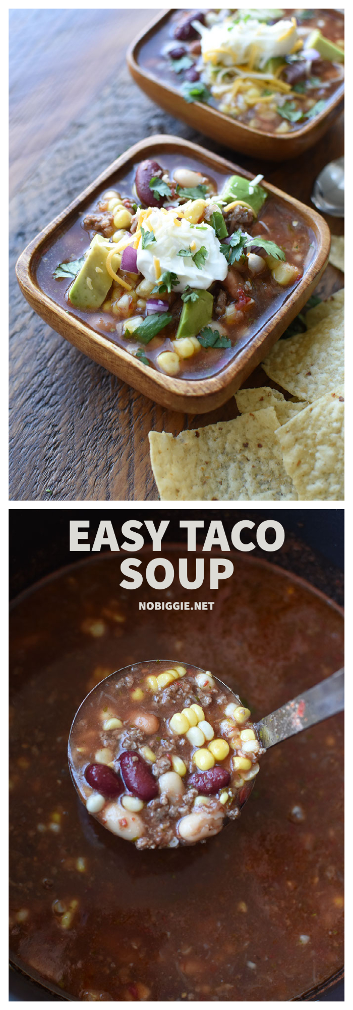 Easy Taco Soup | NoBiggie.net
