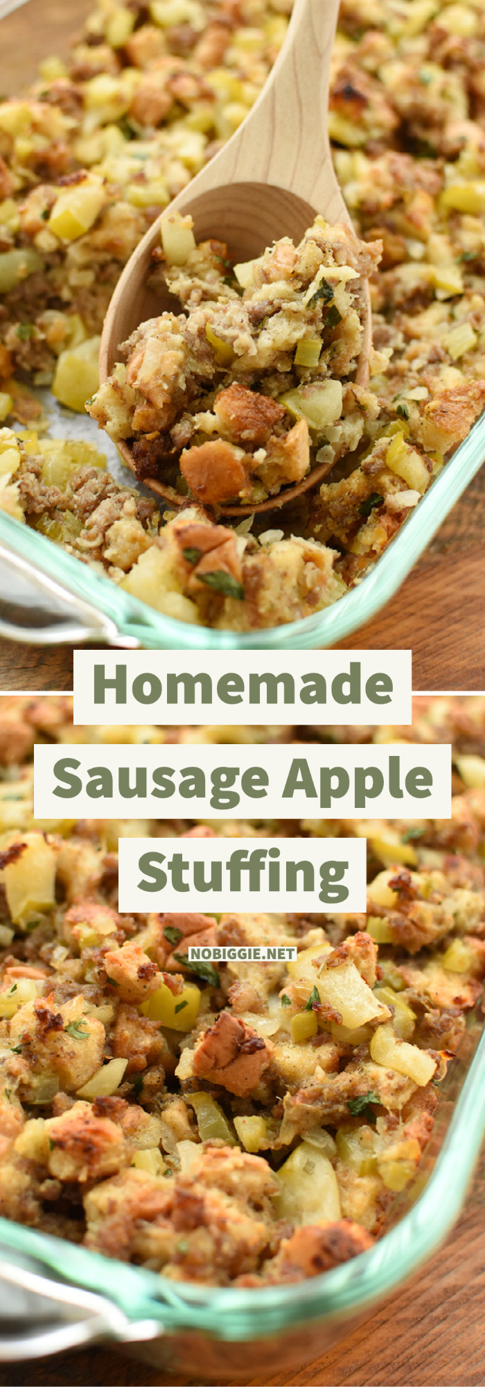 homemade sausage and apple stuffing | NoBiggie.net
