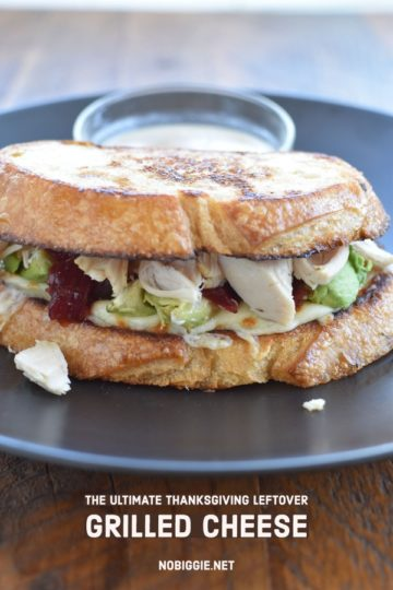 Leftover Turkey Grilled Cheese