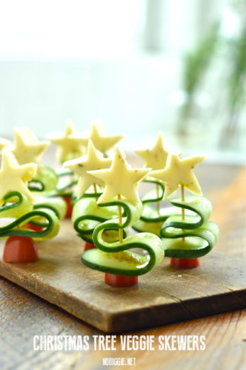Christmas Tree Veggie Skewers