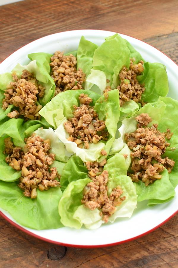 lettuce wraps with ground chicken | NoBiggie.net