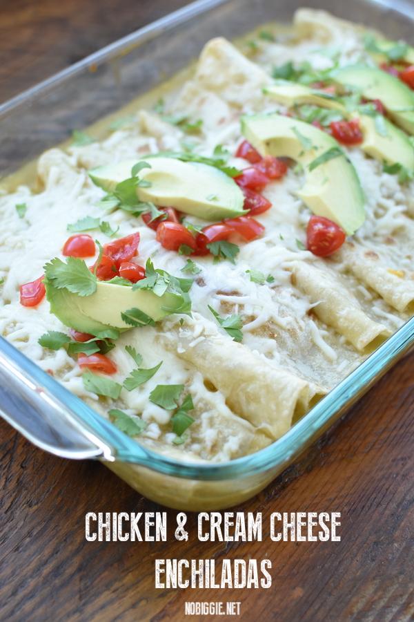chicken and cream cheese enchiladas | NoBiggie.net