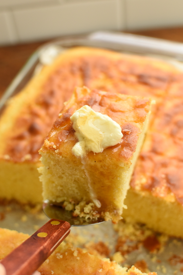 cornbread with butter and honey | NoBiggie.net